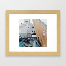 Art Museum and Dhow Boat, Doha Framed Art Print