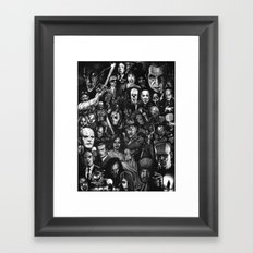 Many Faces Framed Art Print
