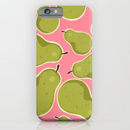 Pear Pattern iPhone Case