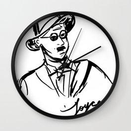 James Joyce Portrait Mug Wall Clock