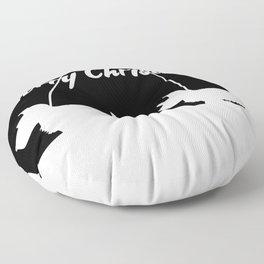 Westie White Christmas Floor Pillow