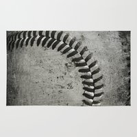 baseball Area & Throw Rugs featuring Baseball by Christy Leigh