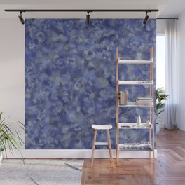 Slate Blue and Steel Silver Gray Unique Bubble Texture Wall Mural