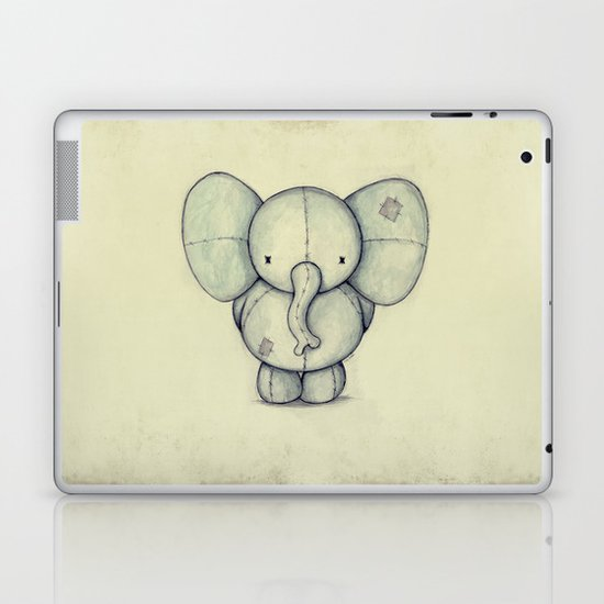 Cute Elephant Laptop & iPad Skin