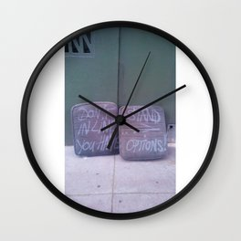 Don't Stand in Line Wall Clock