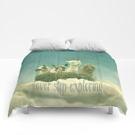 NEVER STOP EXPLORING 1 (THE CLOUDS) Comforters