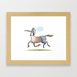 the Hipster Centaur Framed Art Print