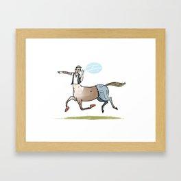 the Hipster Centaur Framed Art Print