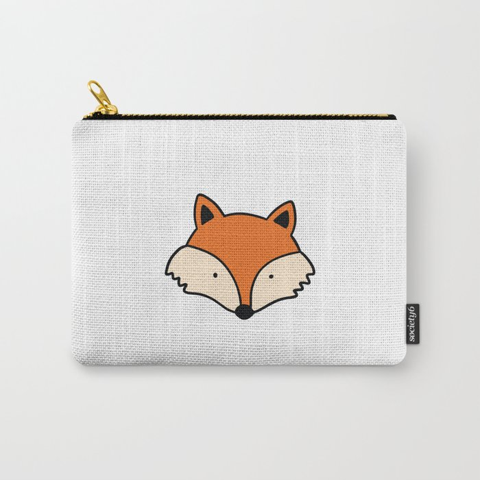 Simple red fox Carry-All Pouch