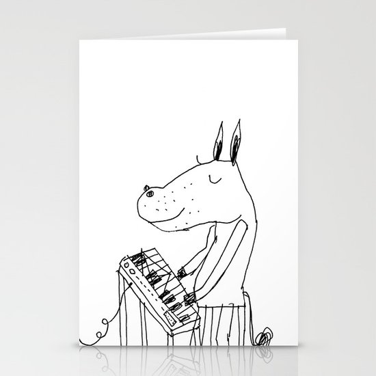 keyboard player Stationery Cards