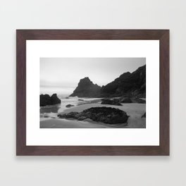 Mist Rolling in at Kynance Cove Framed Art Print