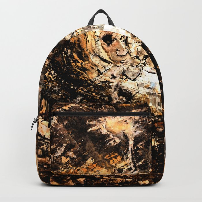 Petrified Tree Rings II Backpack