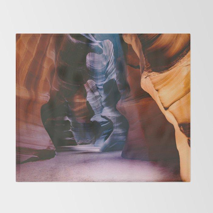 Slot Canyon Throw Blanket