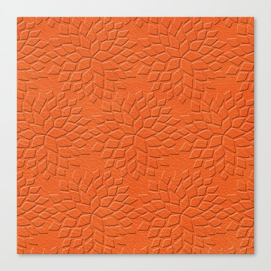 Leather Look Petal Pattern - Flame Color Canvas Print