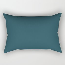 Fanciful Dark Turquoise Blue Green Solid Color Pairs To Sherwin Williams Moscow Midnight SW 9142 Rectangular Pillow