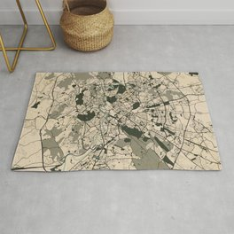 Rome City Map of Italy - Vintage Rug