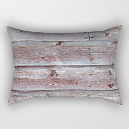 Brown Red Barn Rectangular Pillow