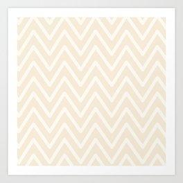 Chevron Wave Bisque Art Print