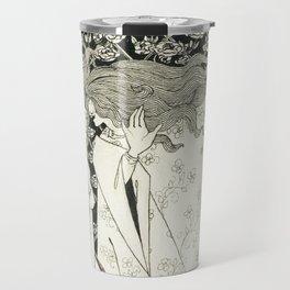 Aubrey Beardsley - The Mysterious Rose Garden Travel Mug