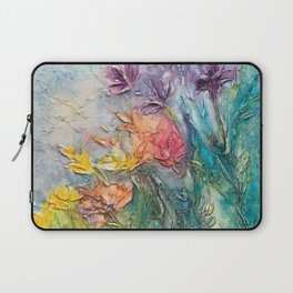 abstract flowers Laptop Sleeve