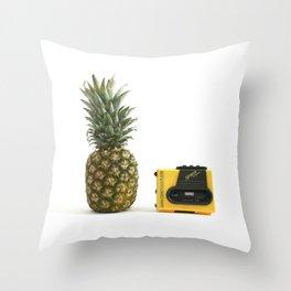 Καλοκαίρι & Κασετόφωνο Throw Pillow