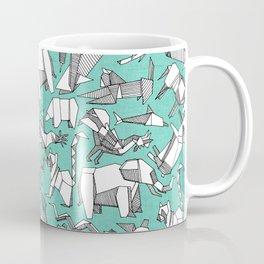 origami animal ditsy mint Coffee Mug