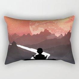 Let your fears run down the creek. Rectangular Pillow