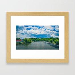 Small town Marina Framed Art Print