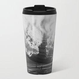 Hindenburg in flames Travel Mug