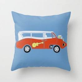 The  Monkeemobile Van Throw Pillow