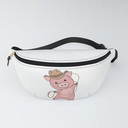 Cowboy Pig Piglet Piggy Western Pink Fanny Pack