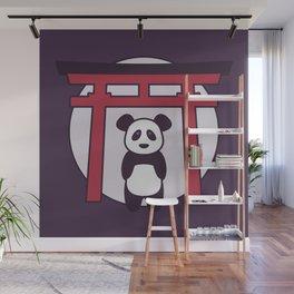 Panda Visits Shrine in Japan Wall Mural