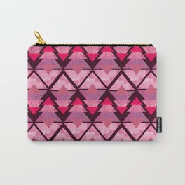 Geometric Forest on Pink Carry-All Pouch