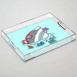 Beach Party Shark Acrylic Tray