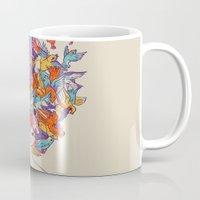 birdy Mugs featuring Birdy by Julia Sonmi Heglund