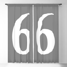 6 (WHITE & GRAY NUMBERS) Blackout Curtain