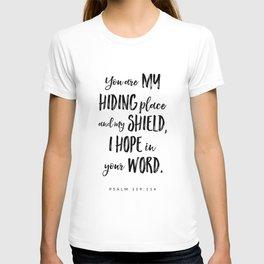 Psalm 119:114 - Bible Verse T-shirt