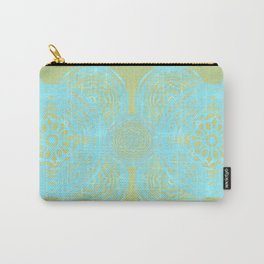 turquoise lace Carry-All Pouch