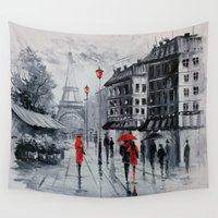 paris Wall Tapestries featuring Paris by OLHADARCHUK