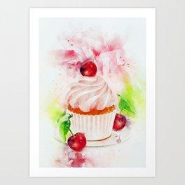 Cupcake Art Art Print
