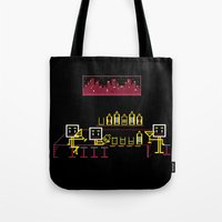 bar Tote Bags featuring Bar by Ornaart