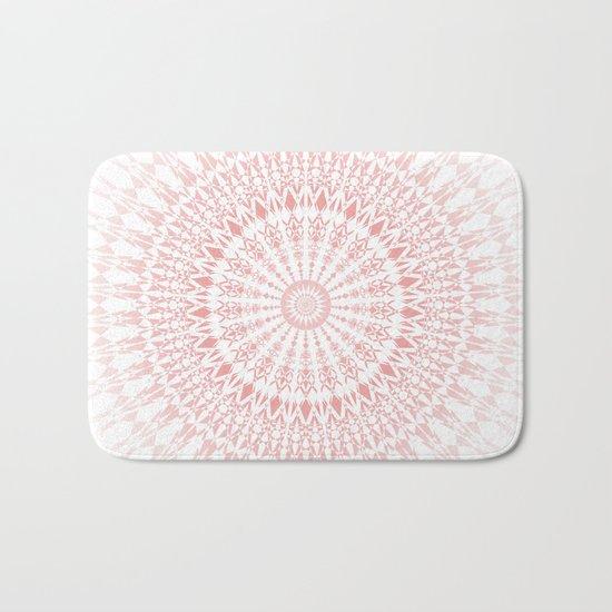 Rose Quartz Mandala Bath Mat