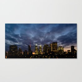Skyline Cloudy Sunset Canvas Print