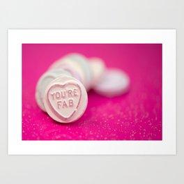 You're fab love hearts  Art Print