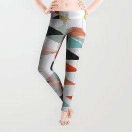 Scandinavian inspired, geometric colour shapes Leggings