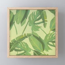 Yellow Jungle Leaf Palm Framed Mini Art Print