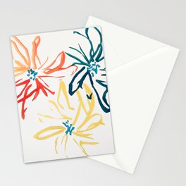 Gestural Blooms Stationery Cards
