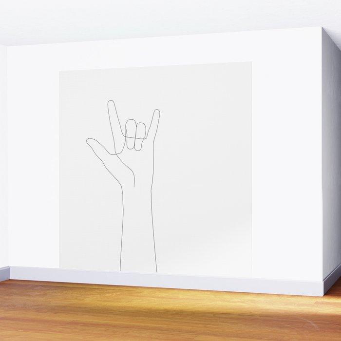Love Hand Gesture Wall Mural