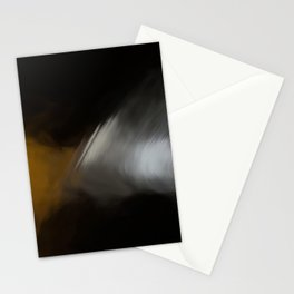 Abstract Beige and White on Black Shades.  Like painted on canvas. Stationery Cards