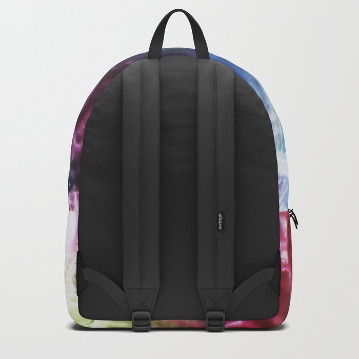 abstract composition of red and blue colours Backpack